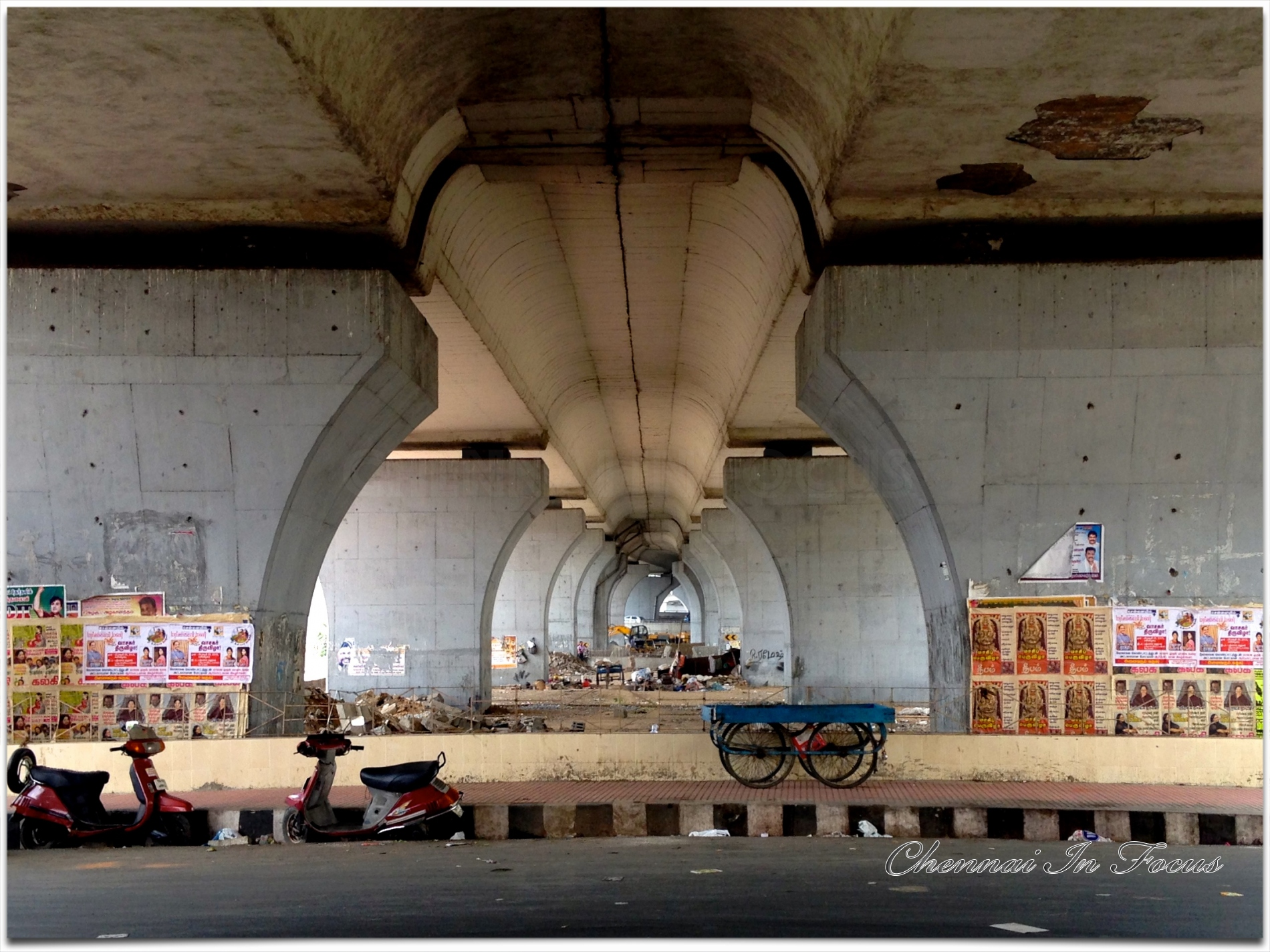 under guindy kathipara bridge