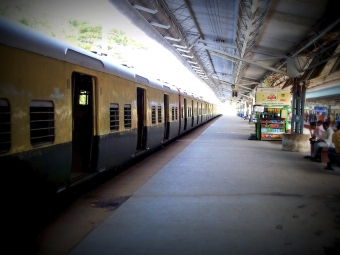 Suburban Railway Station, single point perspective - Chennai In Focus